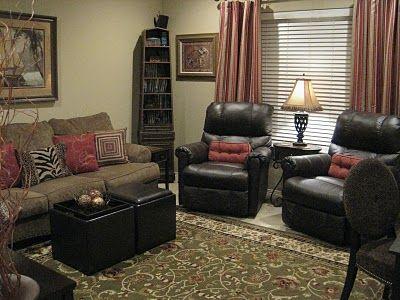 Living room recliner living spaces pinterest living - Living room furniture setup ideas ...