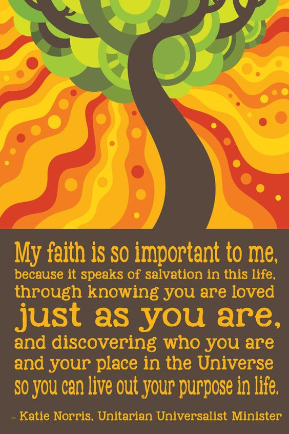 Unitarian Universalism: Your Purpose in Life Poster: