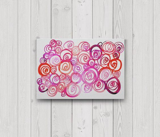 Vibrant watercolor roses