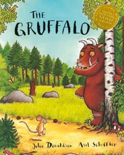 The Gruffalo by Julia Donaldson, pictures by Axel Scheffler.  Featuring such a clever little mouse!