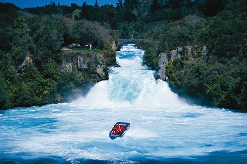 This is so much fun, its on a river in New Zealand. You jet down and see this water fall and as your going back to the dock they spin the boat and do a full 360. funnest thing EVER