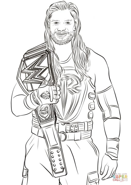 8 Roman Reigns Coloring Pages In 2020 Wwe Coloring Pages Coloring Pages Wwe