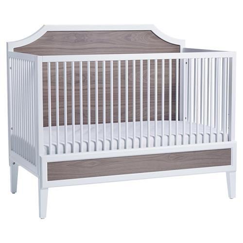 Ducduc Litchfield Modern White Bleached Walnut Crib Cribs Furniture Baby Furniture