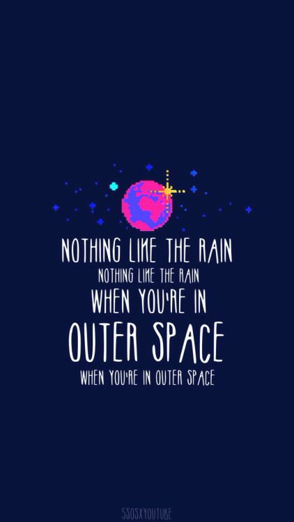 5 seconds of summer outer space and second of summer on - Outer space 5sos wallpaper ...