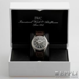 "IWC Herrenuhr ""Fliegeruhr UTC"", Edelstahl. Ref.: 3251-001."