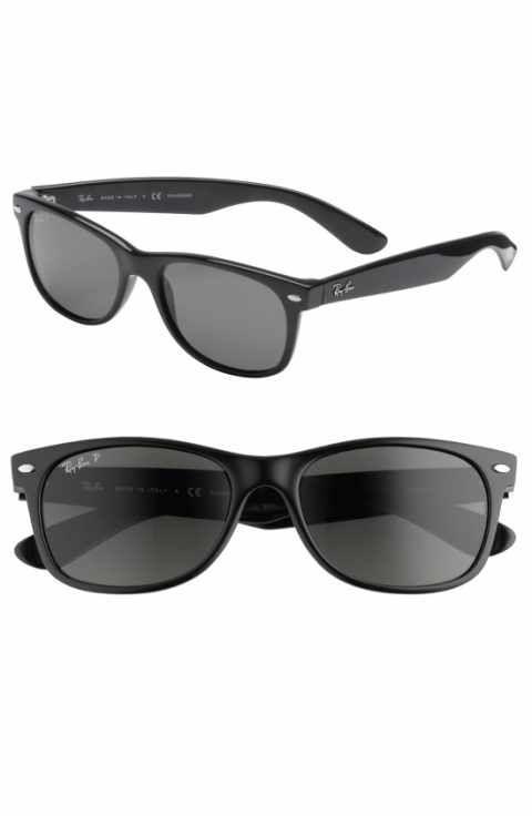 Ray Ban New Wayfarer 55mm Polarized Sunglasses Ray Bans New Wayfarer Ray Ban Sunglasses