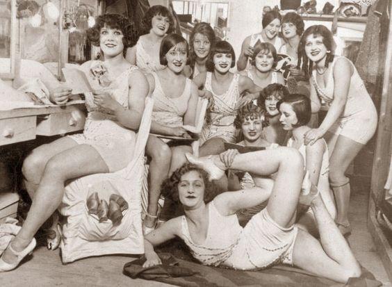 The Hoffman Girls dressing room: Moulin Rouge, Paris,1924