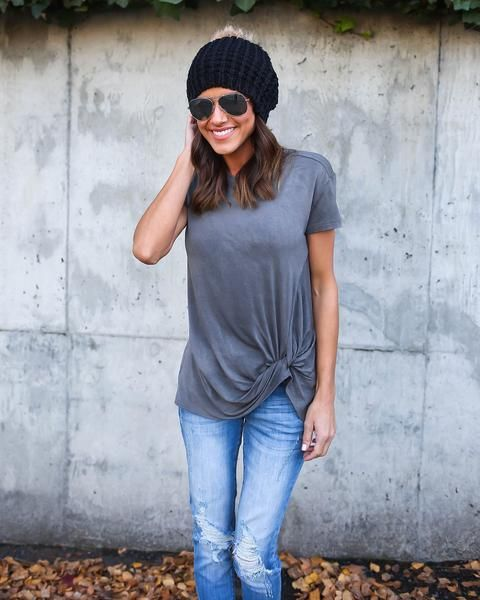 The Femme Knot Top - Grey