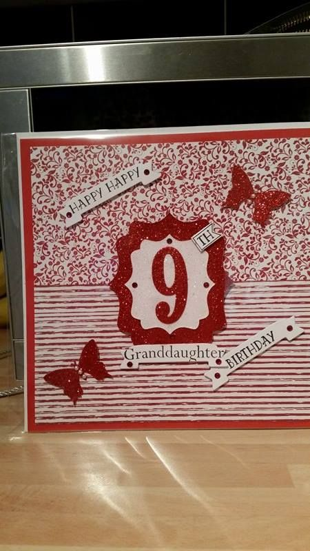 number of years card for granddaughter SU