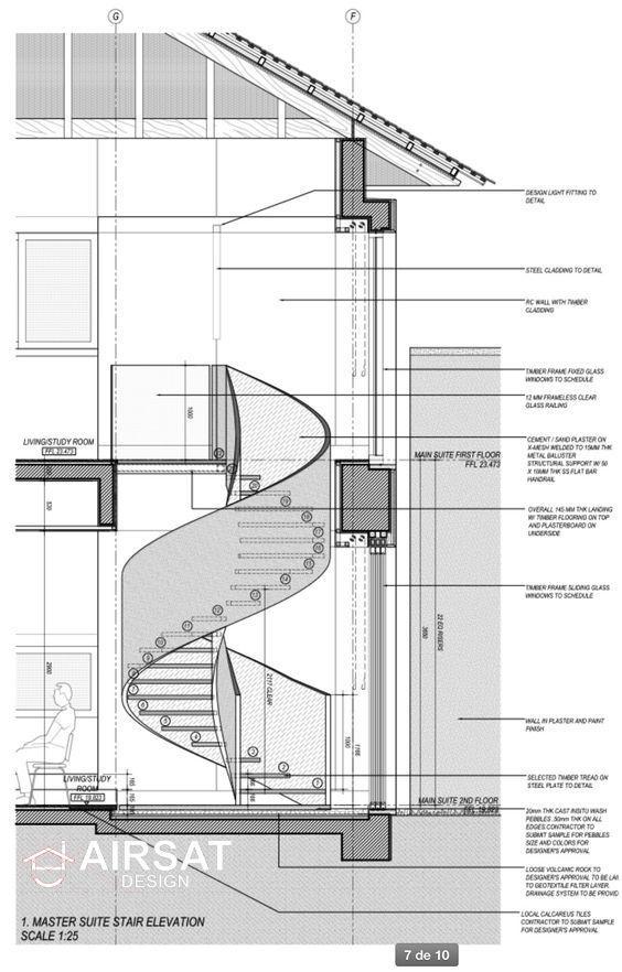 Design Of A Unique Staircase Spiral Staircase Plan Spiral Stairs Staircase Design