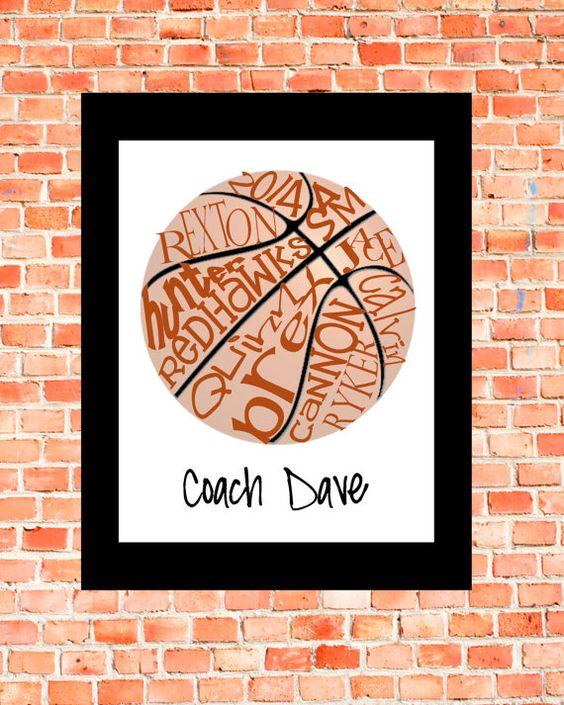 Basket-ball... Art de la typographie 8 x 10 par lesleygracedesigns