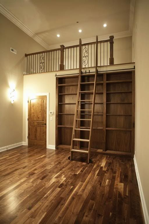 Ladder, Loft and Libraries on Pinterest