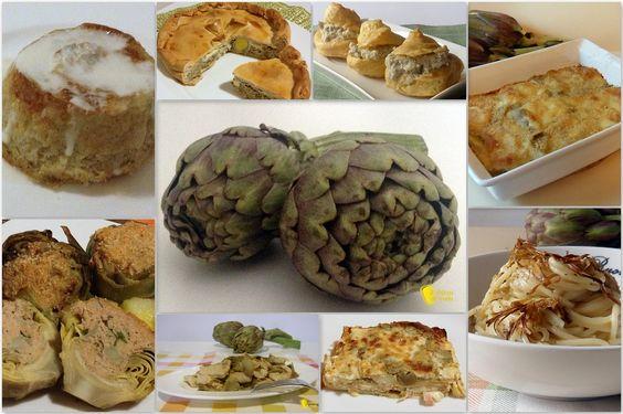 Ricette con carciofi  e artichoke italian recipe