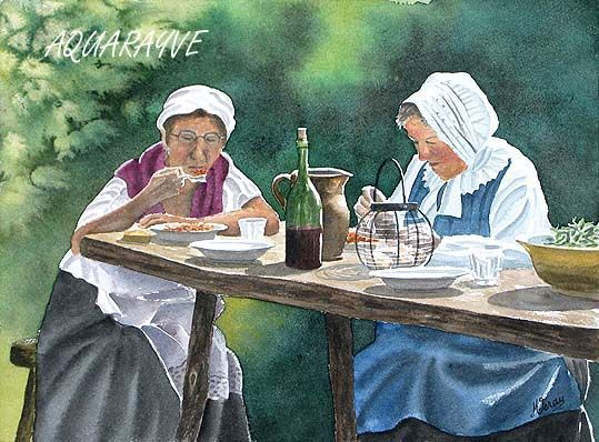 Repas champêtre 1900