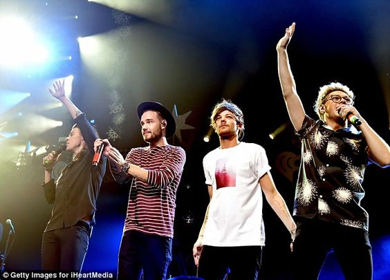 Fantastic four: One Direction also performed at the star-studded concert...