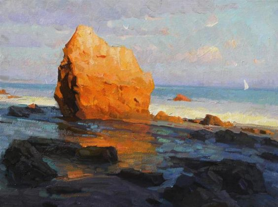 Calvin Liang, A View From Malibu Oil on canvas 12