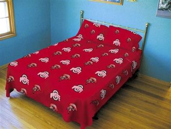 Ohio State Twin XL Dorm Sheets