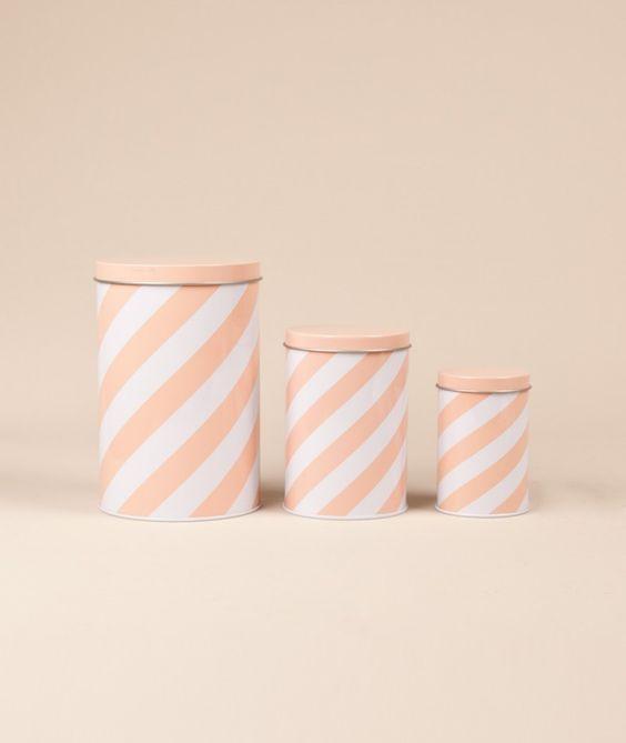 FERM Stripe Tin Box - Wohnen - Kauf Dich glücklich