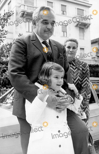Stephanie with her parents Prince Rainier and Princess Grace