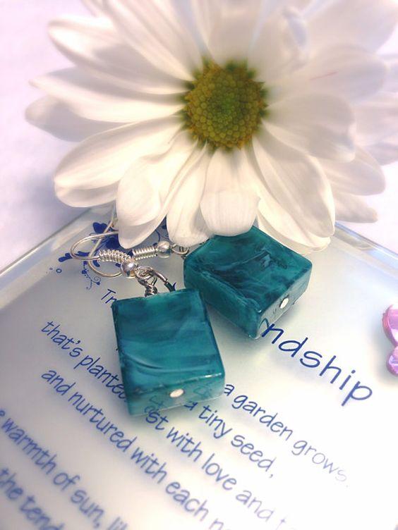 Turquoise Earrings  Large Earrings Dangle & Drop by Barysto