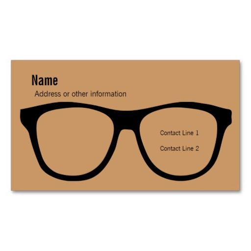 Eyeglasses Business Card Zazzle Com In 2021 Eyewear Store Design Doctor Business Cards Business Cards