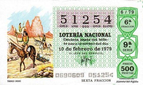 Décimo Del Sorteo Extraordinario De Lotería De San Valentin Celebrado El 10 De Febrero De 1979 Coleccionismo Loteri Lotería Nacional Lotería 10 De Febrero