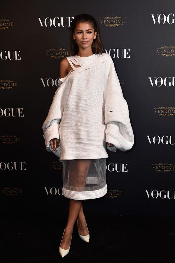Zendaya attends the Vogue Paris Party
