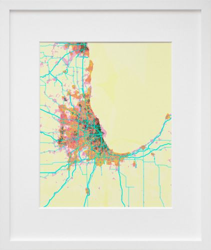 prettymaps (chicago), by Aaron Straup Cope | 20x200: Chicago Prettymaps, Color Palettes, Prettymaps Chicago, Chicago Map, Housewarming Gift, Chitown, Cope Prettymaps, Pretty Map