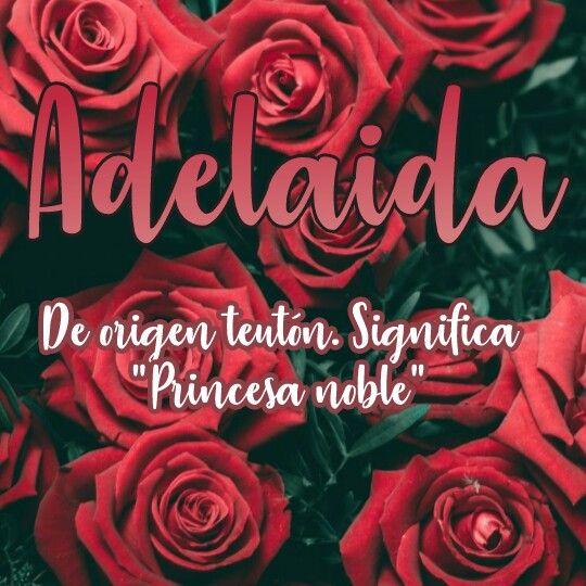 Adelaida Nombres Y Significado Neon Signs Names Poster
