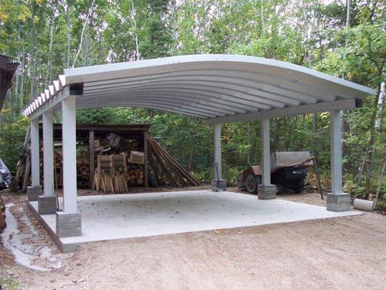 Carport kits shelters future buildings rv parking for Motorhome garage kits