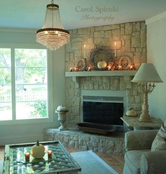 The perfect corner fireplace fireplaces pinterest Corner fireplace makeover ideas
