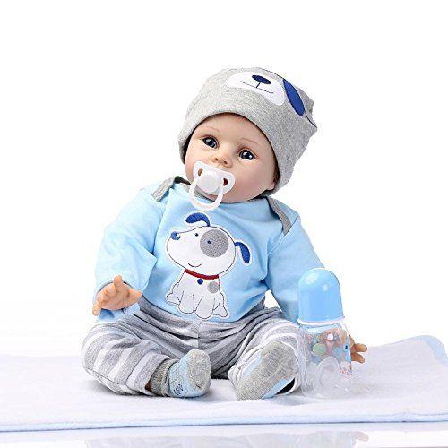 22 inch Soft Silicone Lifelike Handmade Reborn Baby Doll Boy Newborn Realistic