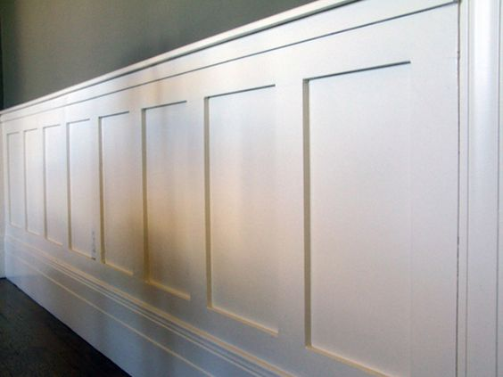 Wainscoting tutorials and board and batten on pinterest for Examples of wainscoting