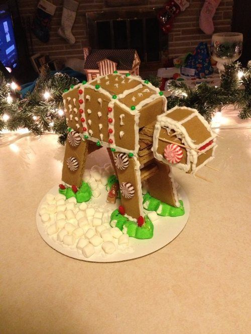 simple At At gingerbread   Star Wars Cake   Ideas of Star Wars