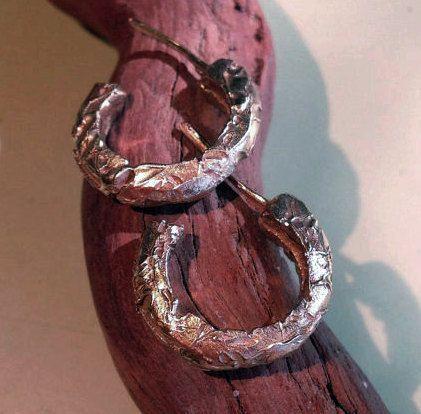 Distressed 14k Gold Hoop Earrings - Severely Damaged