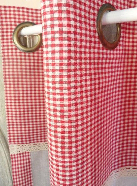 Rideaux rideau brod s voilages voilage brod brise for Rideaux brise bise cuisine