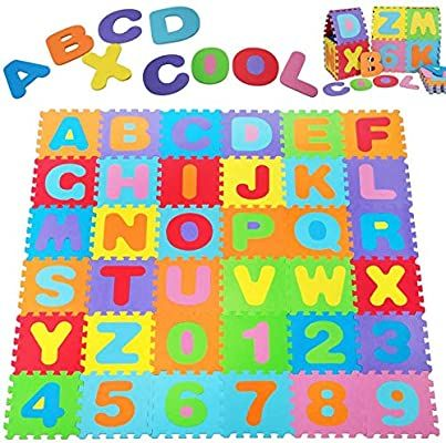 Amazon Com Kangler Kids Foam Puzzle Play Mat 36 Piece Set 12x12 Inches Interlocking Floor Tiles With In 2020 Play Mat Interlocking Floor Tiles Interlocking Flooring