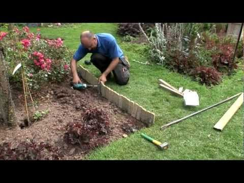 How to install log roll edging - YouTube