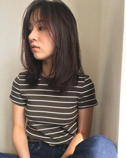 大人女子に似合う ミディアムレイヤー の髪型 ストレートやパーマ
