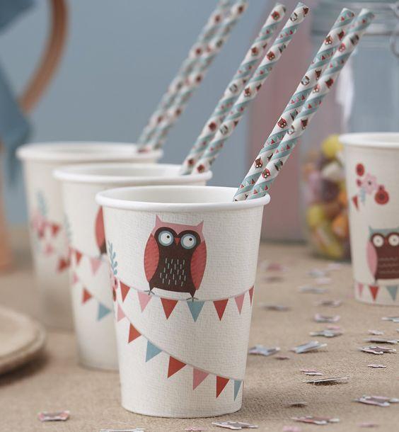 Coupes Ginger Ray partie de hibou papier - Patchwork Owl: Amazon.fr: Jeux et Jouets