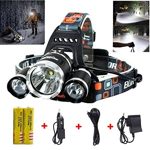 Best Led Headlamp Flashlight 10000 Lumen Improved Led With Rechargeable 18650 Battery Bright Head Lights Waterproof Hard Hat Light Fishing Head Lamp Hunting Led Headlamp Flashlight Headlamp