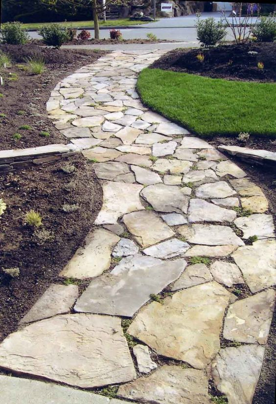 There must be a hundred examples of stone paths from formal and fitted to random and ragged.