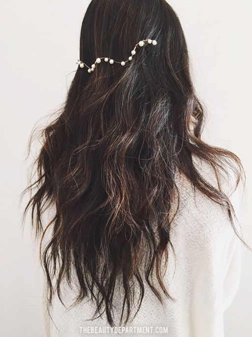 easiest wedding hair of all time via the beauty department