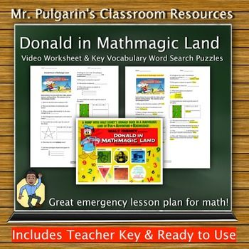Printables Donald In Mathmagic Land Worksheet donald oconnor words and videos on pinterest in mathmagic land video worksheet word search puzzles