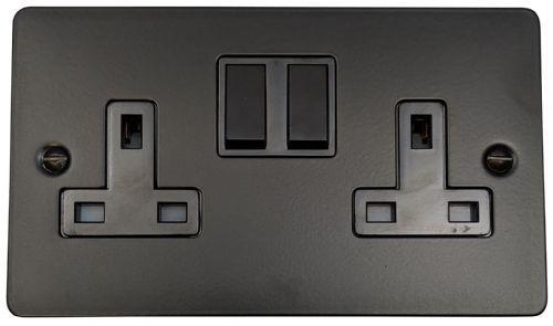Flat Plate Matt Black Light Switches Plug Sockets Dimmers Toggles Black Light Switch Light Switches And Sockets Light Switch