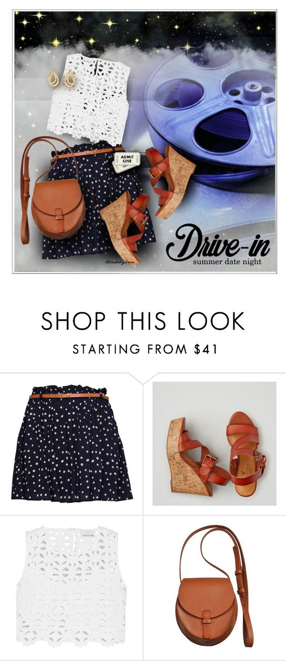 """Summer Date: The Drive-In"" by trendsbybren ❤ liked on Polyvore featuring MANGO, American Eagle Outfitters, Miguelina, Most Wanted, Givenchy, DateNight, drivein and summerdate"