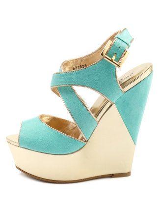 Cream+ Turquoise Sandal