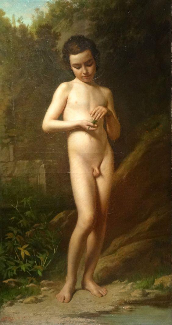 First interracial 19th century nude men