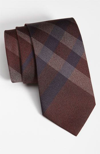 brown burberry tie