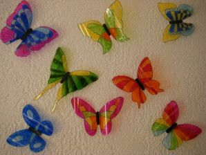 Papillons and 3d on pinterest for Peindre sur plastique